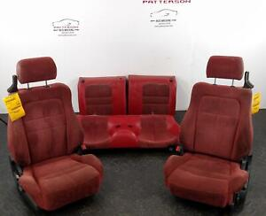 1992 Dodge Stealth Front & Back Seats Red X94 Leather Cloth Manual