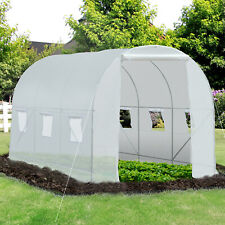 More details for outsunny large walk-in greenhouse poly tunnel galvanized garden plants grow tent