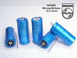 15uF - 250V  PHILIPS Audio Grade!! Long life Electrolytic caps x 100 pieces