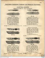 1932 PAPER AD 2 Sided Remington Hunting Knife Knives UMC Sheath Type