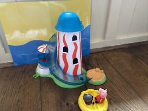 PEPPA PIG & DANNY DOG  POSABLE FIGURES WITH HELTER SKELTER PLAYSET- READ DESCRIP
