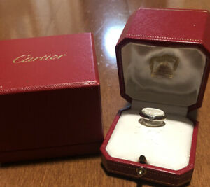 $2280 Cartier Platinum Diamond Wedding Band Ring Size 47 (US 4)