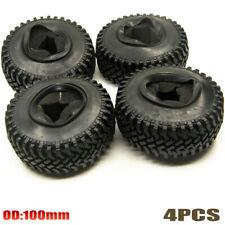 """4PCS 100mm OD Tire w/ Foam Fit 1.9"""" Wheel for 1/10 RC Crawler SCX10 D90 TRX-4"""