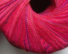 1 x 50g Decorative Ribbon Yarn Pink/Multi. Knit/Crochet/Weave/Textile crafts