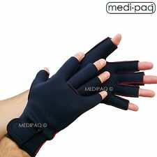 Fingerless Compression Gloves Work Warm Carpal Tunnel Hand Support Neoprene UK