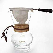 3 Cups Barista Cafe Woodneck Drip Pot Filter Coffee Maker 480ml Pour Over Chemex