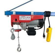 1320lb 1250w Mini Electric Wire Cable Hoist Winch Crane Lift Overhead 120v60hz