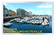 CHERBOURG-OCTEVILLE FRANCE FRIDGE MAGNET SOUVENIR IMAN NEVERA