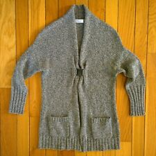 BRUNELLO CUCINELLI Womens 100% Cashmere Knit Cardigan Sweater XXL 2XL Gray