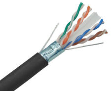 CAT6A Cable SOLID COPPER Shielded 10G 23AWG F/UTP Ethernet Network 1000' 2238RK