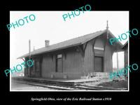OLD LARGE HISTORIC PHOTO OF SPRINGFIELD OHIO, THE ERIE RAILROAD STATION c1910 1