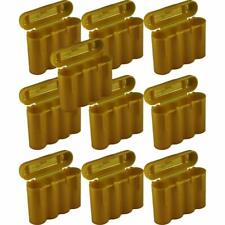10 Brand New AA / AAA / CR123A Gold Battery Holder Storage Cases