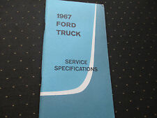 1967 FORD TRUCK SERVICE SPECS FACTORY SHOP BRAKES SUSPENSION CHASSIS ENGINE ETC.
