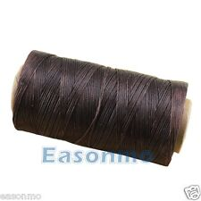 260m/284yards Coffee Color 1mm Flat Leather Sewing Waxed Thread For leathercraft