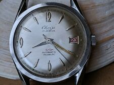 Vintage Choisi Dress Watch w/Beautifully Cut Divers All SS Case,AS 1700/01 Mvmt