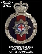 Royale Heavy Chromed Brass Car Badge - COLDSTREAM GUARDS - B5.018 SUPERB !