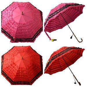 CLIFTON FiFi Deux Umbrella - Two tone frill - Bamboo style handle -Choose Colour