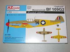 """1/72 Scale AZ Models Messerschmitt Bf 109G2 """"Captured"""""""