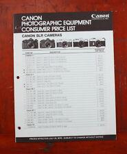 Canon Studio Equipment Consumer Preis List , Juli 1978/214169