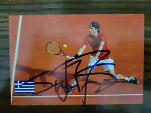 Stefanos Tsitsipas Signed US Open Picture