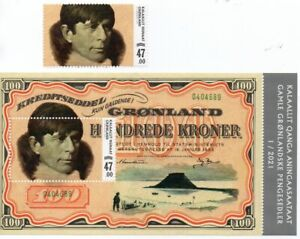 Greenland 2021 - Old Greenlandic Banknotes V - Stamp + Mini Sheet