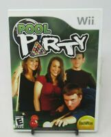 POOL PARTY GAME FOR NINTENDO Wii, GAME DISC, CASE, MANUAL, BILLIARDS, SOUTHPEAK