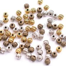 50Pcs Tibetan Silver & Gold & Bronze , Charms Spacer Beads 6X5MM D3010