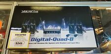 Vocopro Digital Quad B 4 channel wireless mic system w/headset and lapel