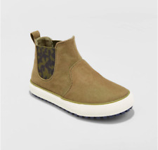 New Cat & Jack Anton Casual Fashion Boots Olive Green Toddler Boys Shoe Size 4