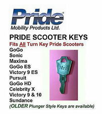 TWO (2) KEY - Pride Scooter Fits All GoGo, Pursuit, Celebrity, Victory, Maxima