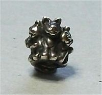 Authentic (Genuine) Sterling Silver TROLLBEADS FAMILY OF KITTENS. New & Retired