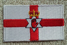 NORTHERN IRELAND FLAG PATCH Embroidered Badge Iron/Sew on 3.8cm x 6cm Ulster NEW