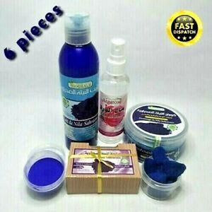 Natural Moroccan Blue Nila Set Skin Body Care Bath Shower Cosmetic Organic نيلة