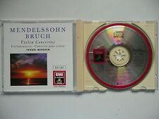 Menuhin plays Mendelssohn & Bruch Violin Concertos EMI 762 519 CD