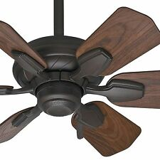 "31"" Casablanca DAMP Rated Bathroom Ceiling Fan, Brushed Cocoa - 3-Position Mount"