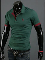 2017 Mens Slim Fit Short Sleeve Polo Shirt Golf Tops Formal Casual T-shirts Tee