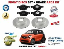 FOR SMART FORTWO C453 0.9 1.0 2014-> NEW FRONT BRAKE DISCS SET + DISC PADS KIT