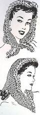 602 Vintage Laura Wheeler FASCINATOR Pattern To Crochet (Reproduction)