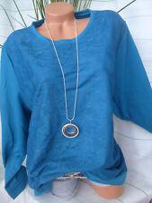 Paola Shirt Sweatshirt mit Spitze Gr. 54 petrol (325) NEU