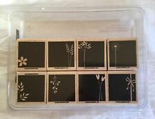 2006 Stampin' Up! Wood Mount Stamp Set - Good Things Grow 8 Pieces