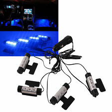 4x 3LED Car LED Interior Decoration Under Dash Floor Atmosphere Lamp Light Blue