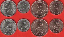 Qatar set of 4 coins: 5 - 50 dirhams 2012 UNC