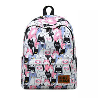 """Cute Kitty Cat Backpack 13"""" Laptop Student Shoulder Bag School Bookbag for Girls"""
