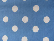 CAth Kidston Large Spot on Teal 95cm / 95cm square lightweight cotton fabric new