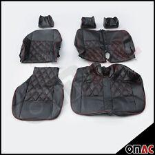DIMOND Leder Schonbezüge Sitzbezug Sitzbezüge VW T4 (schwarz-rot) 2+1