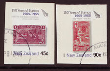 NEW ZEALAND 2005 150 YEARS NEW ZEALAND STAMPS BOOKLET PAIR , FINE USED