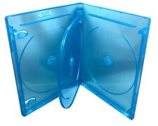 "1 Brand New Quad,4 Four Disc, Blue Tint, Blu Ray, Bd, Media Case, 9/16"" 14mm"