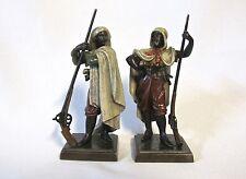 Antique Set of 2 Orientalist Vienna bronze - men with guns (#931)