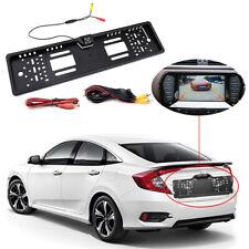 EU Car License Plate Frame Rear View Reverse Backup Parking Night Vision Camera