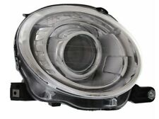 Passenger Right Genuine Headlight Headlamp Assembly Silver For Fiat 500 12-18